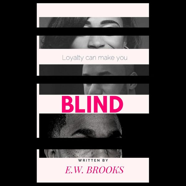 African American male and female with covered eyes - the book cover of Blind by Author E.W. Brooks