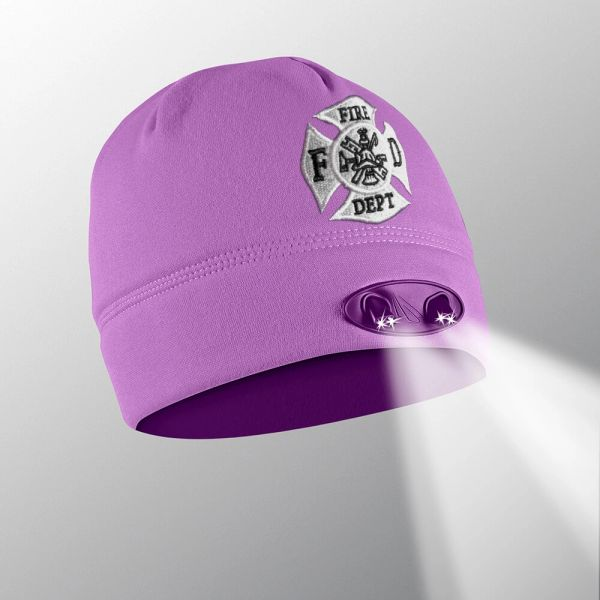 Purple Firefighter LED Beanie