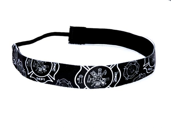 Firefighter Headband - Black and White
