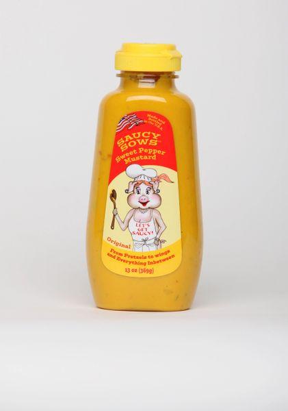 Saucy Sows Sweet Pepper Mustard - Original 12 oz