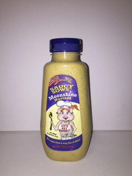 Saucy Sows Moonshine Mustard 12 oz