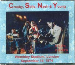 Crosby, Stills, Nash & Young - Wembley 1974 (4 CD & 2 DVD Set)