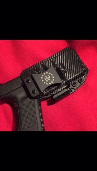 Inside waistband lighted holster