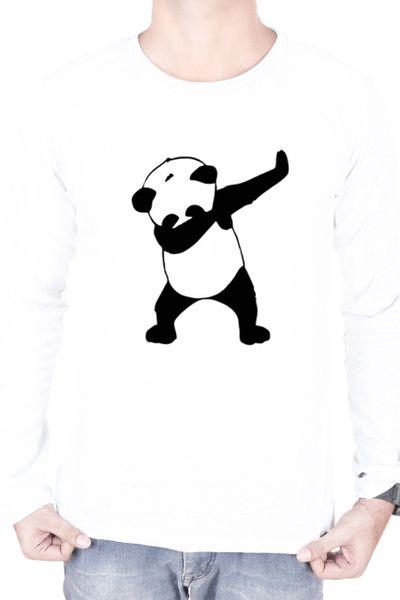 31970b905 DAB PANDA T-SHIRT FULL SLEEVES WHITE | Online T-shirt Fashion ...