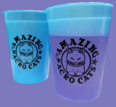 Amazing Acro-Cats Color Changing Cup in Blue!