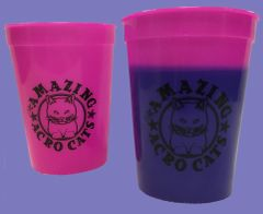 Amazing Acro-Cats Color Changing Cup in Pink!