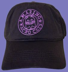 Dad-style Baseball Cap with Purple logo