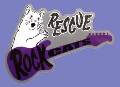 Rock Cats Rescue Official Sticker!
