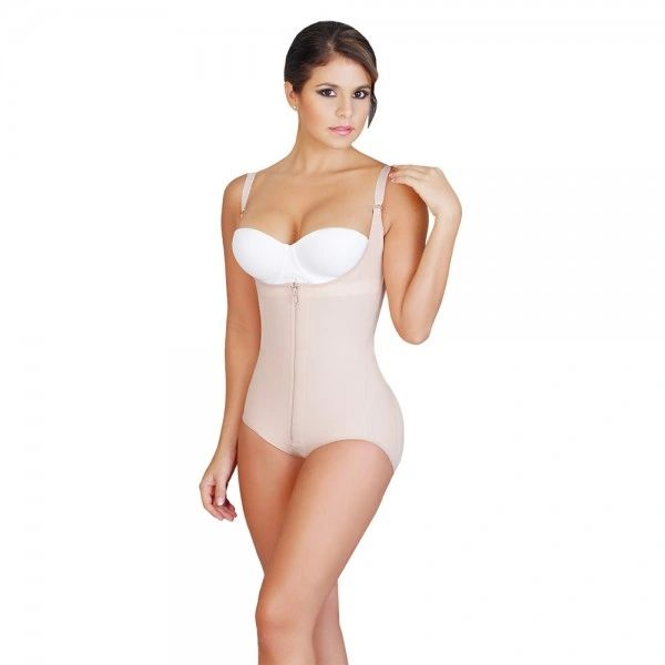 Fajas Salome with Zipper 0415 Body Gluteus enhancer Strapless Boyshort Girdle