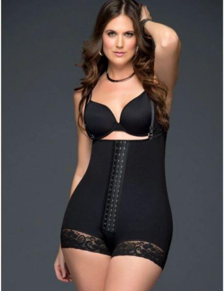 Black Fajas Disenos D'prada with Buttocks Enhancement