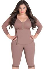 Post bariatric surgery girdles with bra, full body