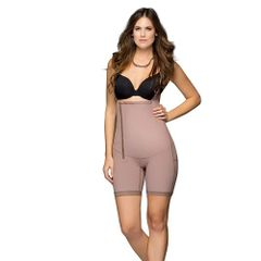 Faja Colombiana mid-tigh with side zipper and open crotch