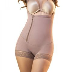 Waist contouring , side zipper and short legs Colombian Faja