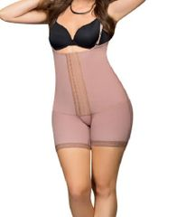 Tummy tuck with lipo Mid leg Compression Garment with hooks closure