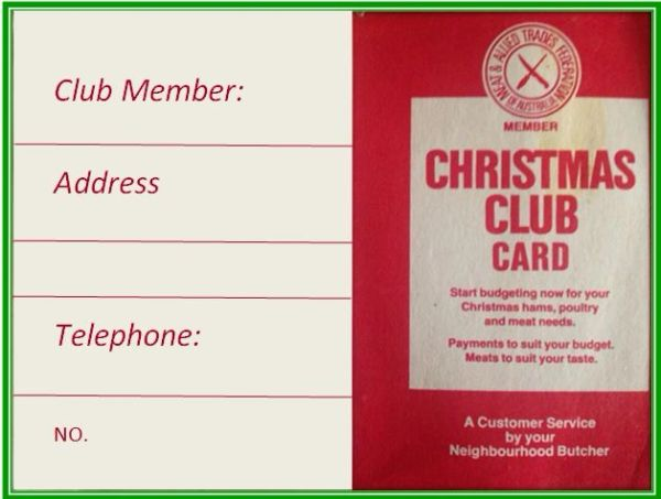 Christmas Club payment $5