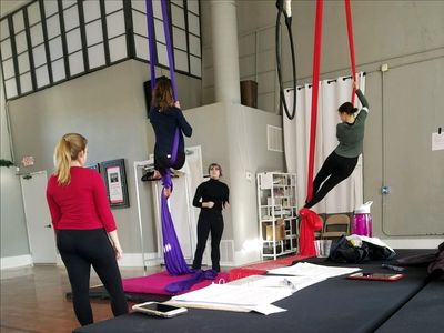 aerial silk and Lyra group class