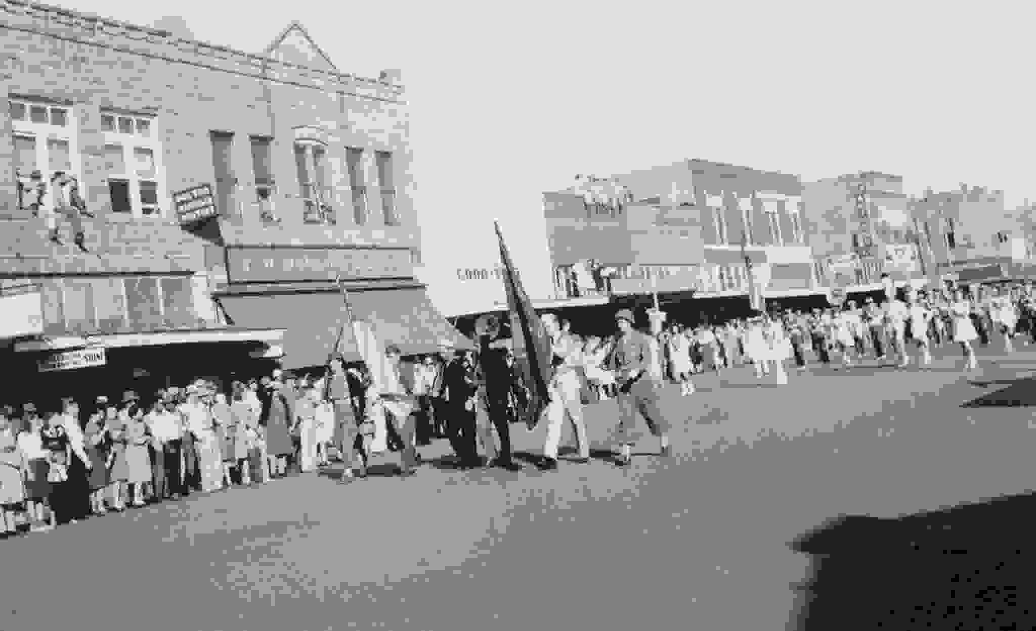 Historic photo of Main Street Duncan, Oklahoma