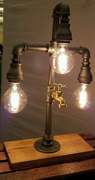 Mr. Retro 3 Bulb edison with valve