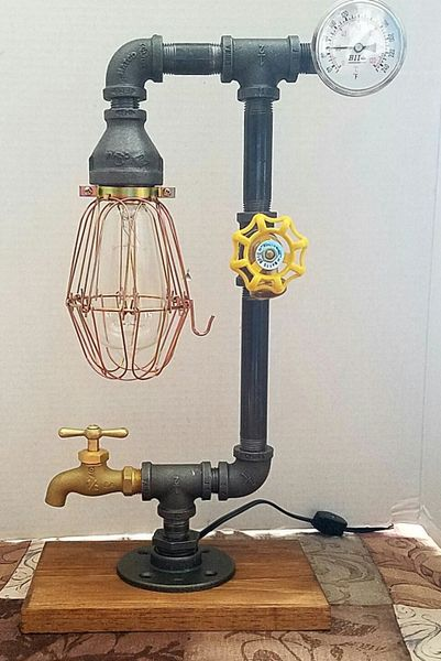 Industrial Edison with tempurature gauge, on/off valve and spigot