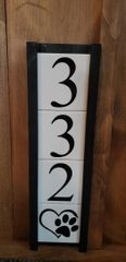 Mr. Willies House Number Signs 3 tiles