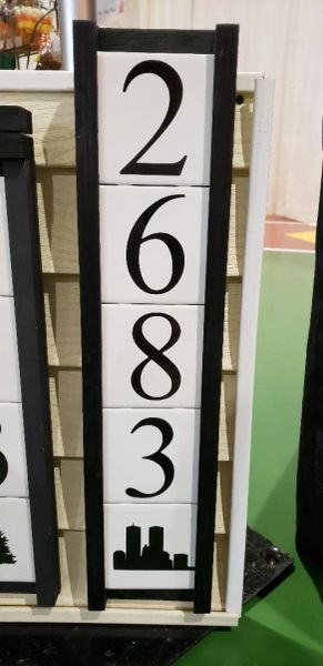 Mr. Willies House Number Signs 5 tile