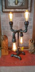 Industrial 4 bulb teardrop 2up/2 down Industrial Pipe Lamp with edison bulbs