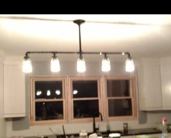 5 Light Canning Jar Ceiling Light