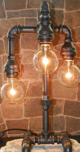 Mr. Tri Edison with Globe bulbs