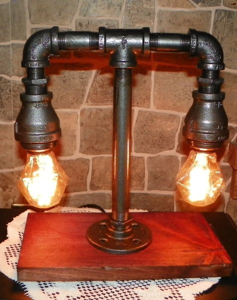 Little Two Tiered Edison with Gem Bulbs