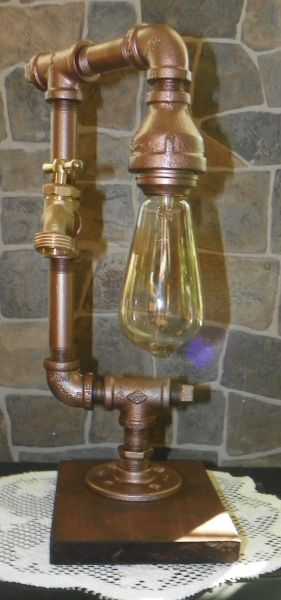 Industrial Edison with water spigot