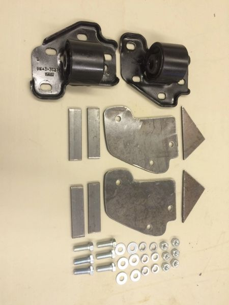 KIT # 718 & 719 TRAILING ARM BRACKET W /BUSHING ROTATED SMALL HOLE WITH  MOUNTING PLATES