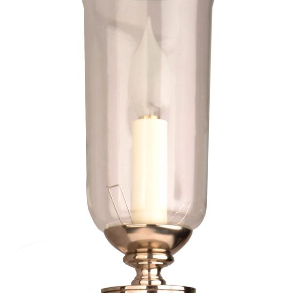 (721G N) Grosvenor Wall Sconce With Storm Glass Nickel