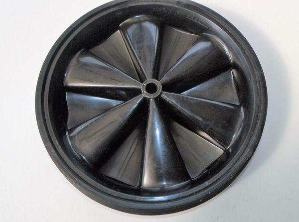 Black moulded wheel