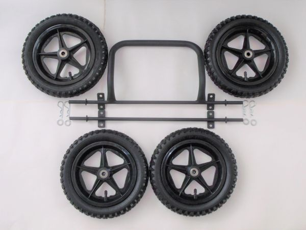 Wheels & Axles with front bumper assembly