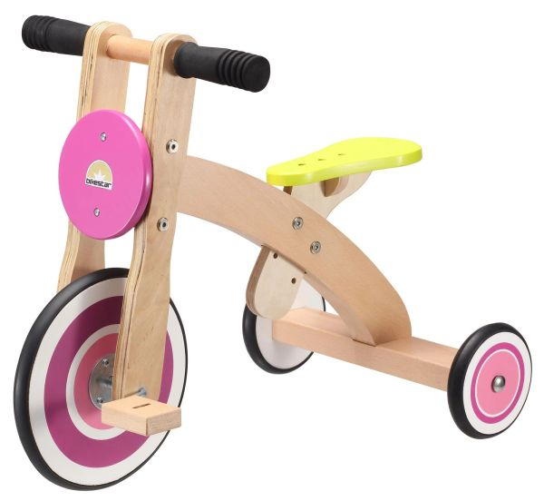 Biks Star Pink Wooden Tricycle Ages 2 - 5 years