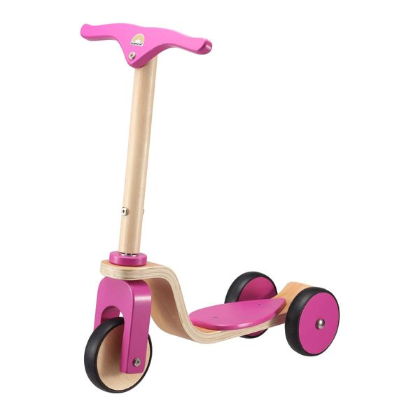 Bike Star Pink Wooden Scooter Ages 2 - 5 years