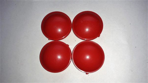 4 x Red Push Fit Cover Cap