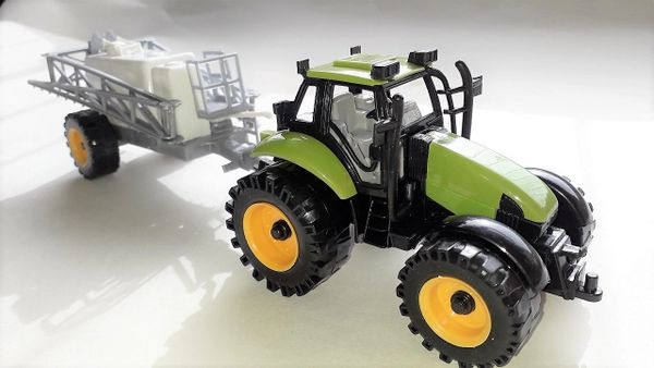 Green Tractor & Crop Sprayer