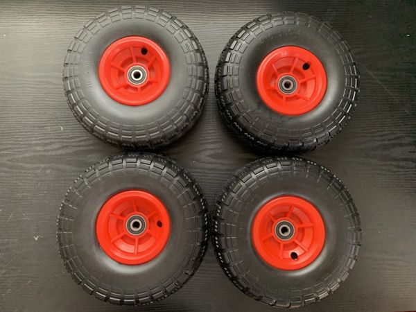"10"" Red wheels x 4"