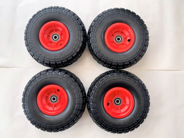 """Factory Seconds 10"""" Red wheels x 4"""