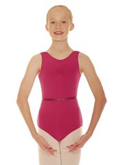 Sleeveless Leotard with Ruche and Waist Elastic CSheree