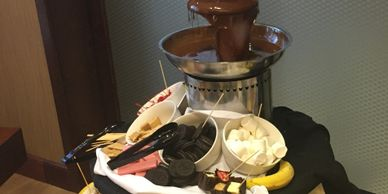 Chocolate Fountain Dessert Buffet