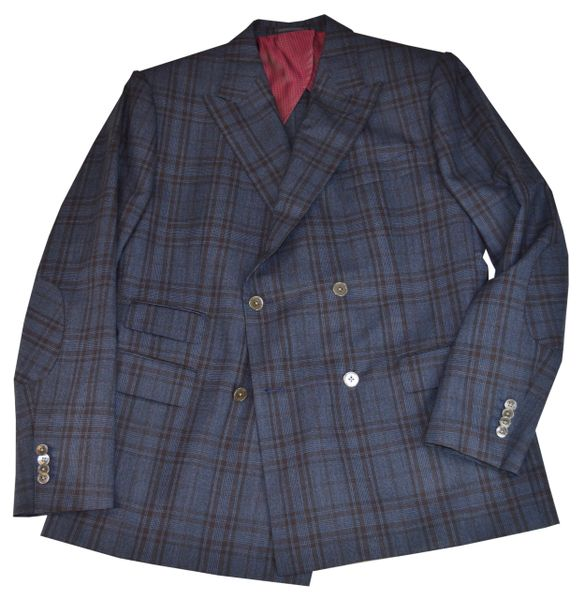 Patriot Double Breasted Plaid Sport Coat