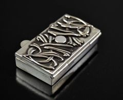 """Deadwood"" Sterling Silver .925 Vitamin pill box MADE IN U.S.A."