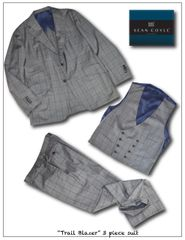 Trail Blazer 3 Pc Suit Wool Window Pane