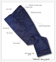 """Patriot"" Navy Sharkskin Pant"