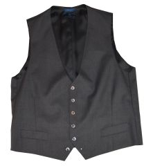 """Ronin Waist Coat"" Charcoal 150's Wool"