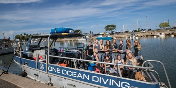 One Ocean Diving Boat. One Ocean Diving Crew. About One Ocean Diving. Shark girl. Shark girls. Whale sharks. Ocean Ramsey team. Ocean Ramsey wetsuit.