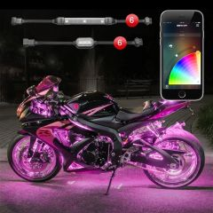 6 Pod 6 Strip XKchrome App Control Motorcycle LED Accent Light Kit