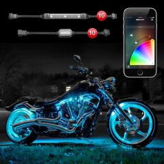 10 Pod 10 Strip XKchrome App Control Motorcycle LED Accent Light Kit